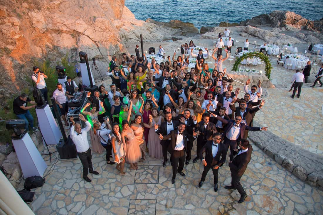 reception wedding in dubrovnik, croatia